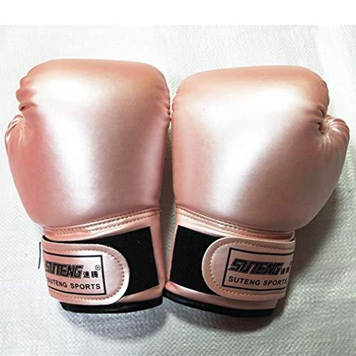 DYXT Kinder-Boxhandschuhe, Kindertrainingshandschuhe für Kleinkind und Jugendalter 3 bis 10 Jahre PU-Leder,Rosa