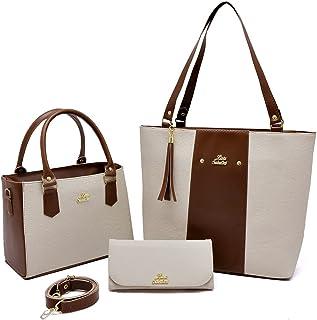 Kit 2 Bolsa Feminina sacola Grande e bolsa quadrada transversal e carteira