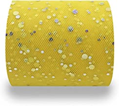 DIY ambacht, 25 Yards Width6.5cm Glitter Sequin Tulle Roll Bruiloft Decoratie Spoel Tutu Organza DIY Craft Verjaardag Part...