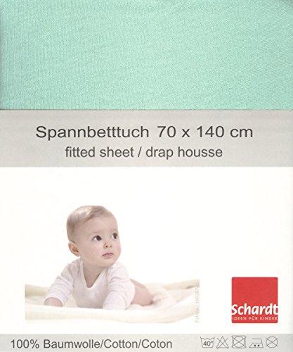 Schardt 13 850 66 Jersey Spannbetttuch, mint