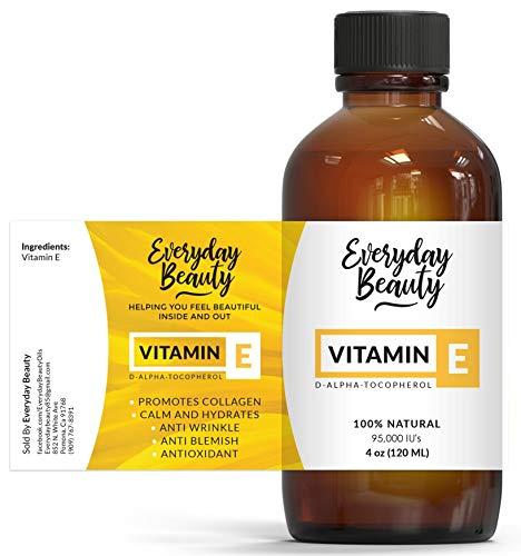 Vitamin E Oil - 100% Pure and Natural D-Alpha Tocopherol 4oz 95,000 IU -...
