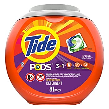 Tide Pods 3 in 1 Laundry Detergent Pacs Spring Meadow Scent 81 Count