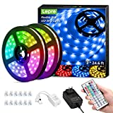 Lepro LED Strip Lights Kit, 50ft Ultra-Long RGB LED Light Strips, Dimmable Color