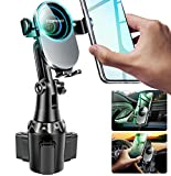 [Upgraded] TOPGO Cup Holder Phone Mount Wireless Charger,Universal Cell Phone Holder Car Charger Wireless-Charger-Cup-Phone-Holder Fast Charging for iPhone, Samsung Galaxy