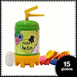 Bombona de Helio Desechable Mister Helio + 15 Globos de Latex. La Botella...