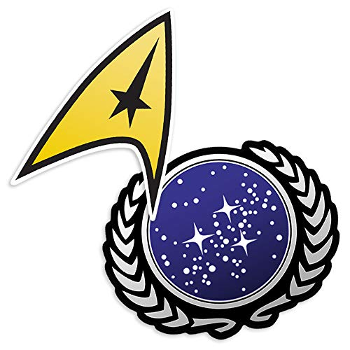 Popfunk Star Trek United Federation of Planets Logo Collectible Stickers