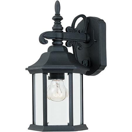 2961 Bk Outdoor Wall Lantern Black Cast Aluminum Wall Porch Lights Amazon Com