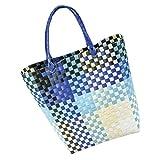 LaFiore24 Grosse original Shopper Einkaufstasche Einkaufskorb Bade-Strandtasche abwaschbar 42x16...