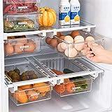 Organizadores de cajones para frigorífico Caja organizadora para frigorífico, Cajoneras extraíbles Estante para frigorífico, Cesta de Almacenamiento para frigorífico retráctil Ahorrador de Espacio