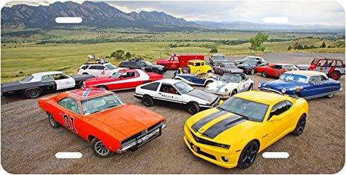 Movie Cars General Lee Starsky Hutch Ghostbusters Doc Hudson Novelty License Plate