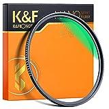 K&F Concept Filtro Ultravioleta UV 82mm Slim Vidrio Alemán Schott con 18 Capas Recubrimiento Multirresistente y Funda