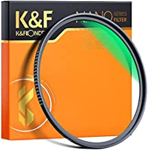 K&F Concept 72mm MC UV Protection Filter, 18 Multi-Layer Coated HD/Waterproof/Scratch Resistant UV Filter with Nanotech Coating, Ultra-Slim UV Filter for 72mm Camera Lens