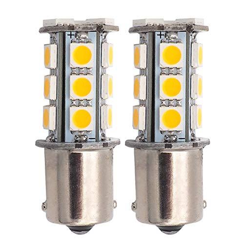 GRV BA15S 1156 1141 High Bright de voiture ampoule LED 18–5050SMD DC 12 V (Blanc chaud/blanc froid)