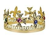 Corona de rey con piedras preciosas de imitación para adulto