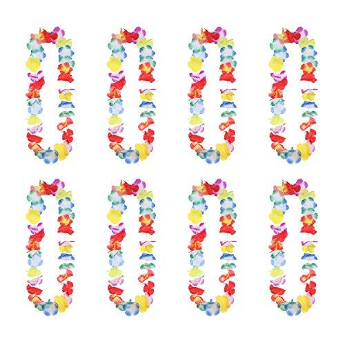 TOYMYTOY Collares Flores Hawaianas Disfraces de Fiesta Multicolor 36 Unidades