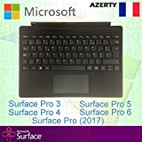 Microsoft Type Cover pour Surface Pro - Clavier rétro-éclairé France/Français AZERTY, Noir - Compatible avec Surface Pro 3, Pro 4, Pro (2017), Pro 5, Pro 6 et Pro 7