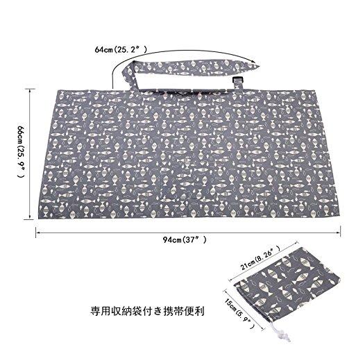 LANMOK 授乳ケープ LANMOK 純綿 大きめサイズ 通気性抜群 透けない ワイヤー入り スリム 360度安心 専用収納袋とポケット付き 運び便利