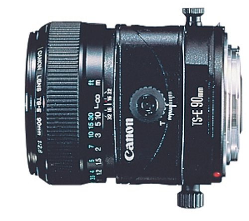 Canon TS-E 90mm f/2.8 Tilt Shift Lens for Canon SLR Cameras, Black - 2544A003