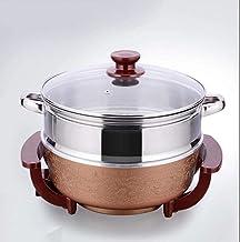 Marmite électrique multifonction épaisse - Poêle à frire électrique - Wok électrique - Peut être utilisé dans la cuisine, ...