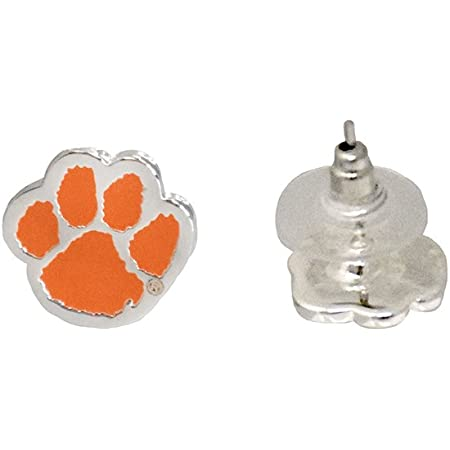 Clemson Tigers Aztec Print Logo Earrings