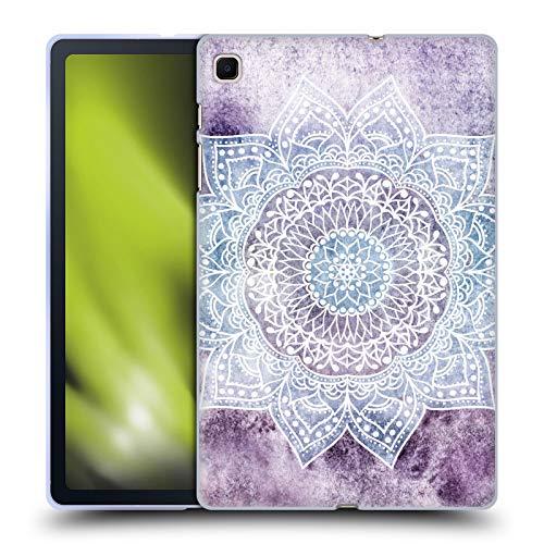 Head Case Designs Licenza Ufficiale Nika Martinez Porpora Intenso Mandala Cover in Morbido Gel Compatibile con Samsung Galaxy Tab S6 Lite