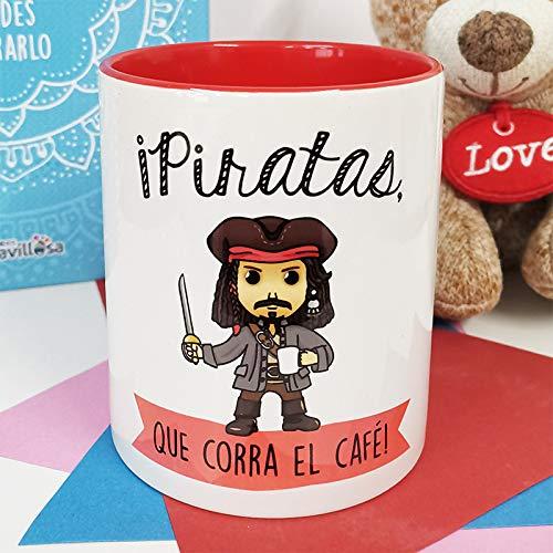 La Mente es Maravillosa mok met spreuk en tekening. Origineel en grappig cadeau (piraat die de koffie loopen). Jack Sparrow Mok