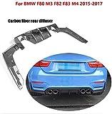 DDDXF Kohlefaser Auto Heckschürze Lippe Spoiler Diffusor Für BMW F80 M3 F82 F83 M4 14-19 Standard Und Cabrio,V,P