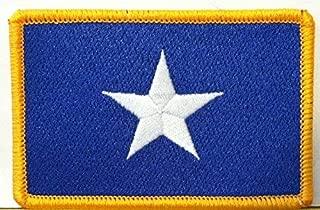Bonnie Blue Flag Patch Texas Star Southern Patch with Hook & Loop Morale Patriotic USA Shoulder Emblem Gold Border Version #36