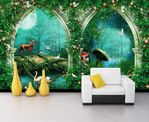3D Tapete Wandbild Bögen Feenwald Schönen Traum Vlies Fototapete 3D Effekt Schlafzimmer