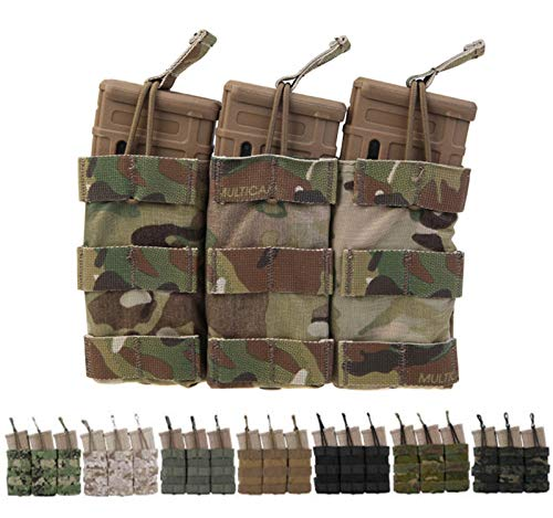 Elite Tribe Airsoft Molle Magazine Pouch Tactical Modular Triple Mag Pouch (AOR1)