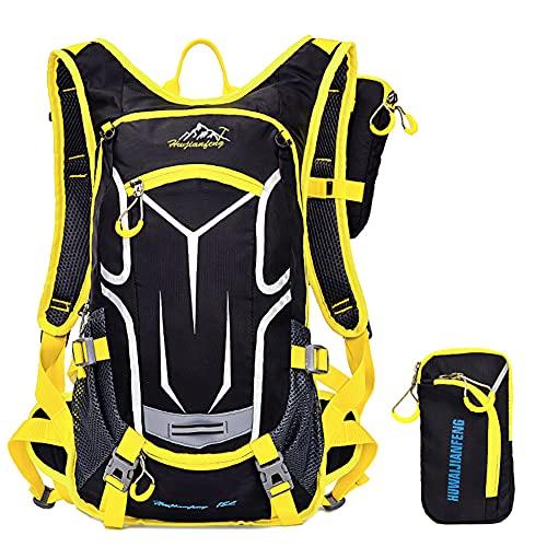 WANGQI Mochila para bicicleta al aire libre para ciclismo, bolsa de agua para correr, senderismo, escalada, mochila impermeable, mochila multifuncional, amarillo, Gelb