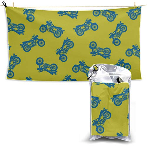 Create Motorcycle Electric Locomotive Beach Blanket Towel Microfiber Towels For Travel Microfiber Cleaning Towel Quick Dry Bath Towels 27.5'' X 51''(70 X 130cm)best For Gym Travel Camp Yoga Fitnes