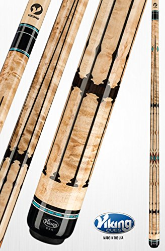 Buy Viking A951 Pool Cue Stick 100 Brazilian Tulipwood, West African Ebony, Black (IMA), New Guinea Vermillion and Turquoise Inlays | Khaki Stain Quick Release Joint ViKORE Shaft 18-21 oz. (19.5)