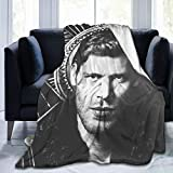 Vampire Diaries Originals Klaus Soft Lightweight Blanket Vampire Tv Show Niklaus MikaelSon Fleece Throw Blanket for Sofa Bed Vampire Tvd Fans Gifts Ornaments Home Living Room Decor, 50'x40'