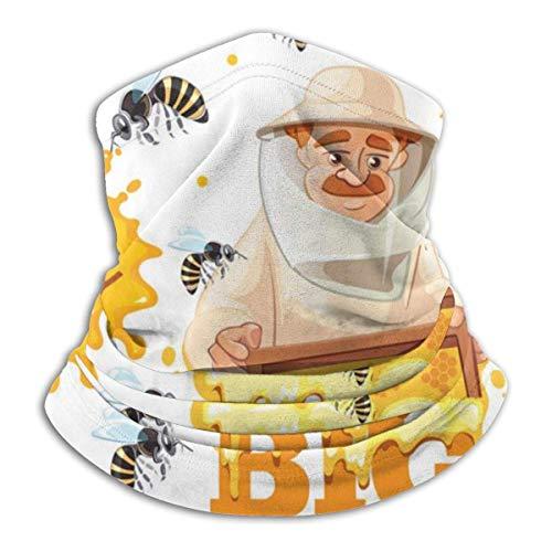 Lzz-Shop Apiario Model honing en imker van halsdoek – sjaal voor het haar omwikkelde halswarmer voor visslang, sportsjaal voor het gezicht