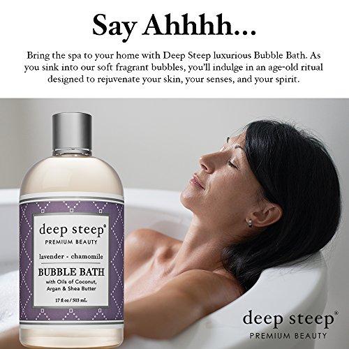 Deep Steep Bubble Bath, Lavender Chamomile, 17 Ounces