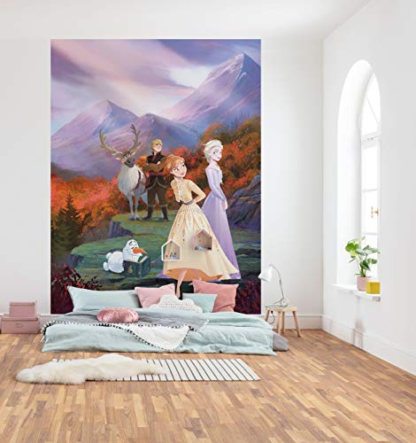 Disney Fototapete von Komar FROZEN SPRING IS COMING - Größe 184 x 254 cm (Breite x Höhe), Frozen 2, Eiskönigin, Tapete, Wandgestaltung, Kinderzimmer, Dekoration -4-4105