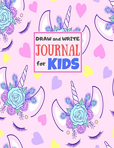 Draw and Write Journal for Kids: Cute Unicorn Matte Cover Design for Drawing, Creative Writing, Doodling, Creating Your Own Story, Illustration Book ... Women) Large 8.5
