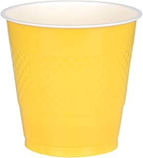 Amscan Bright Yellow Plastic Cups Party Pack 355ml-20 Pcs