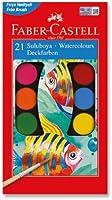 Faber-Castell 5292125021 Suluboya, Büyük Boy, 21 Renk