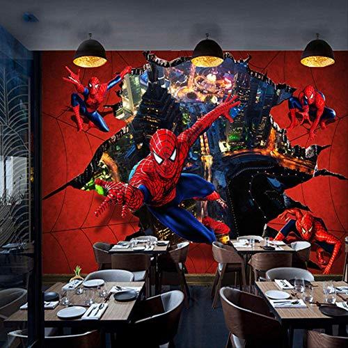 3d Stereoskopischer Tv-hintergrund Tapete Und Schlafzimmer Wandmalerei Ktv Themenbox Spiderman Wandmalerei-kinderzimmer Höhe 250cm * Breite 175cm pro