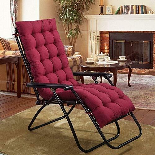 RAQ zachte kussen voor ligstoel van katoen stoelkussen kussen voor tuinstoel schommelstoel bureau decor stoel tatami 48x155cm Burgundy