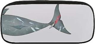 サメのしっぽ ペンケース 筆箱 旅行化粧ポーチ トラベルポーチ多機能 収納ポーチ コスメポーチ ファッション 防汚および耐摩耗 男女兼用 贈り物 防水 洗面用具