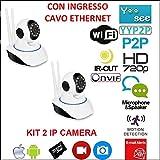 Kit 2Cámaras IP Camera motorizada WiFi HD 720P infrarrojos con App yoosee
