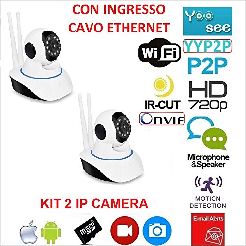 Kit 2 Cámaras IP Camera motorizada WiFi HD 720P infrarrojos con App yoosee