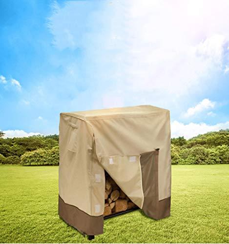 WCCCW Chaise d'extérieur, Anti-décoloration - Cadre de Bois de Chauffage Housse de Pluie Oxford Garden Furniture Cover Outdoor Outdoor Waterproof Rainproof Dust Cover-Beige + Café_48x24x42
