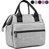 Srise Lunch Bag Insulated Lunch Box, Wide-Open Meal Prep Lunch Tote Bags Durable Nylon Snacks...