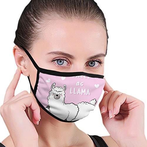 Black Edge stofdicht masker, Sweet Lama Doodle, zacht en comfortabel, geschikt voor iedereen om te dragen