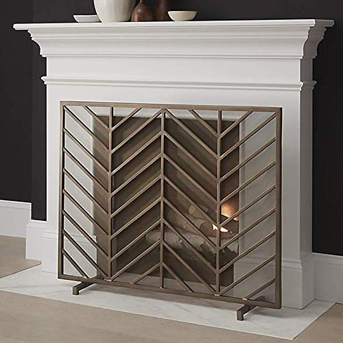 Learn More About WJMLS Free Standing Single Panel Spark Guard, Vintage Wrought Iron Fireplace Screen...