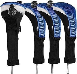 Andux 4pcs/Pack Long Neck Golf Hybrid Club Head Covers Interchangeable No. Tag CTMT-02